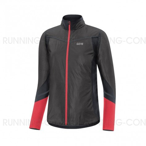 GORE® Maillot manches longues R5 GORE-TEX INFINIUM™ Soft Lined Femme | Black/Hibiscus Pink