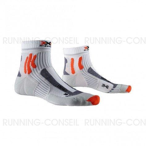 X-SOCKS Chaussettes Marathon Energy Mixte   Arctic White / Pearl Grey