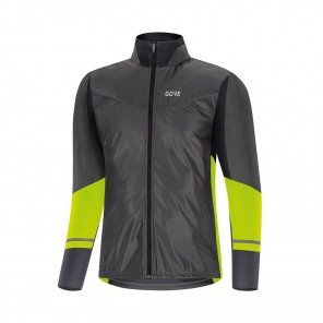 GORE® Maillot à manches longues R5 GORE-TEX INFINIUM™ Soft Lined Homme | Black/Neon Yellow