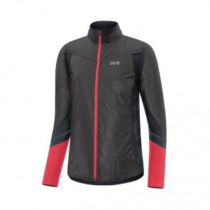 GORE® Maillot manches longues R5 GORE-TEX INFINIUM™ Soft Lined Femme   Black/Hibiscus Pink