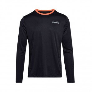 DIADORA T-SHIRT MANCHES LONGUES X-RUN HOMME | BLACK | Collection Printemps-Été 2019