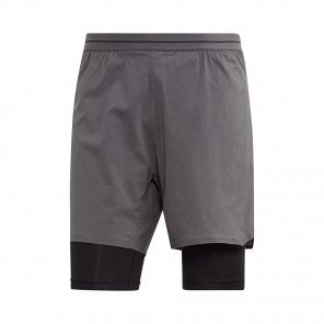 ADIDAS Short 2 en 1 AGRAVIC Homme | Grey Five