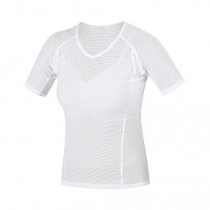 GORE® BASE LAYER MAILLOT MANCHES COURTES FEMME | WHITE | Collection Printemps-Été 2019