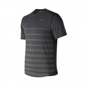 NEW BALANCE Tee-Shirt manches courtes Q SPEED JACQUARD Homme | Black Heather | Collection Printemps-Été SS2019